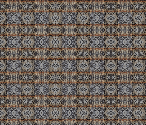 Rusty Metal Flowerpot in Mirror Repeat fabric by anniedeb on Spoonflower - custom fabric
