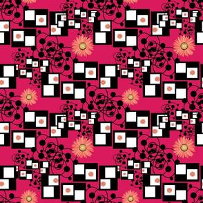 gerberas on pink