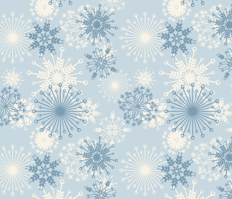 snowflake fabric by bussybuffu on Spoonflower - custom fabric