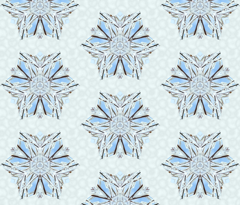 snowflake_1 fabric by peegee on Spoonflower - custom fabric
