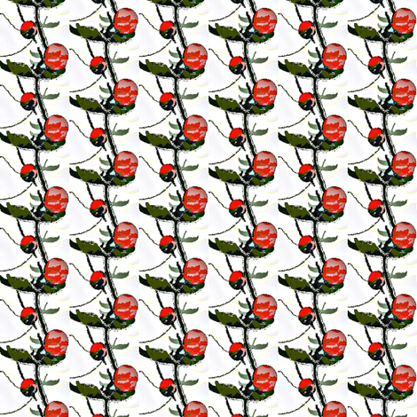 red rose bud 1 fabric by dk_designs on Spoonflower - custom fabric