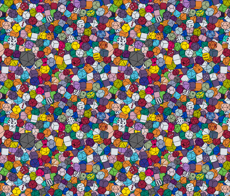 Dice Galore - Assorted fabric by pi-ratical on Spoonflower - custom fabric