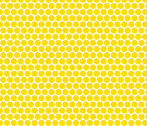 Milledotti (yellow) fabric by pattern_bakery on Spoonflower - custom fabric