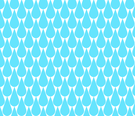 Rain (turquoise) fabric by pattern_bakery on Spoonflower - custom fabric