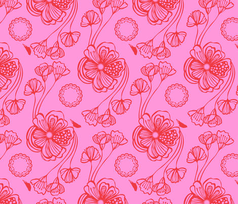 Sugar (red) fabric by pattern_bakery on Spoonflower - custom fabric