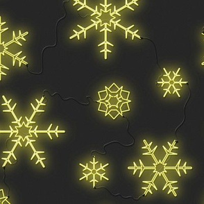 'Neon Sign Snowflakes'