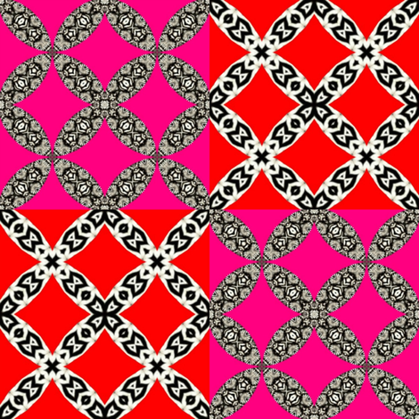 Zesty Zebra 28 - Checkerboard fabric by dovetail_designs on Spoonflower - custom fabric