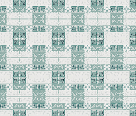 Vine Tiles fabric by robin_rice on Spoonflower - custom fabric