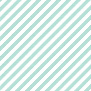 Diagonal Stripe Mint