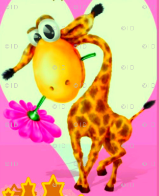 giraffe and flower