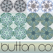 Snowy Button Covers