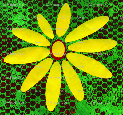 Green & Yellow Daisy