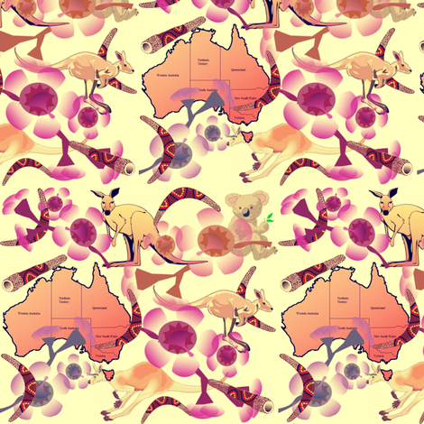 AUSTRALIA fabric by bluevelvet on Spoonflower - custom fabric