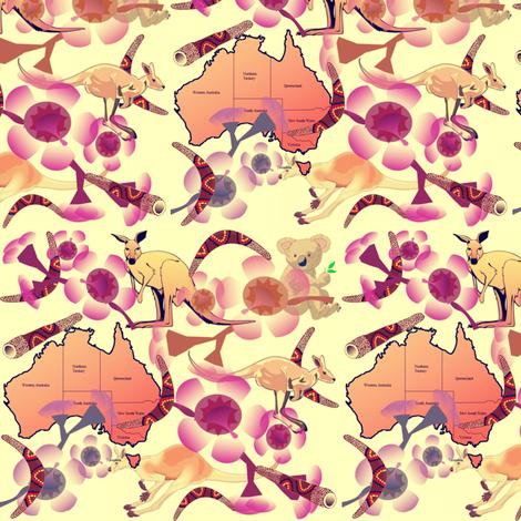 AUSTRALIA fabric by bluevelvet on Spoonflower - custom fabric