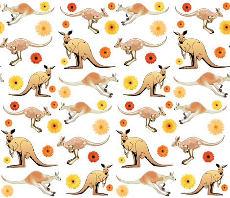 KANGAROOS fabric by bluevelvet on Spoonflower - custom fabric