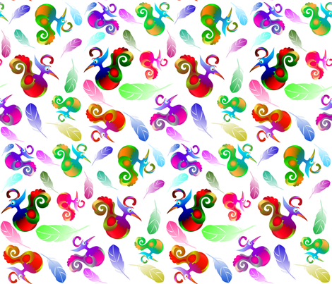 WHIRLEY BIRDS fabric by bluevelvet on Spoonflower - custom fabric