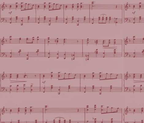 Pink Music fabric by peacefuldreams on Spoonflower - custom fabric