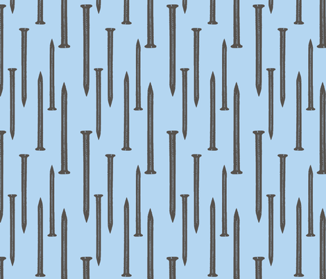 nail art teal fabric by pins_x_needles on Spoonflower - custom fabric