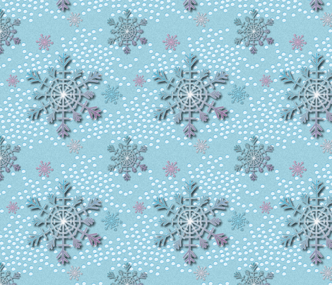 flake_cristal fabric by vannina on Spoonflower - custom fabric