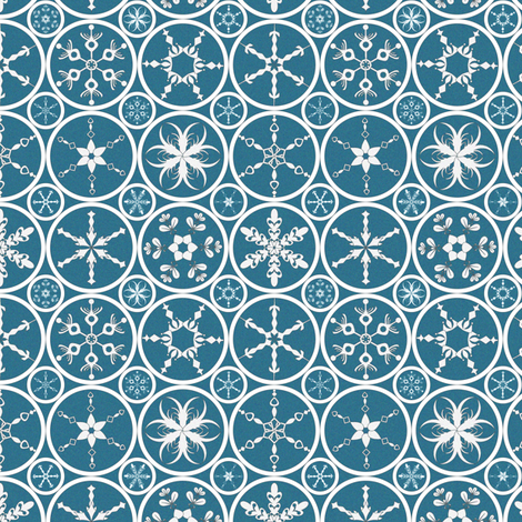Sparkle Snowflakes fabric by mag-o on Spoonflower - custom fabric