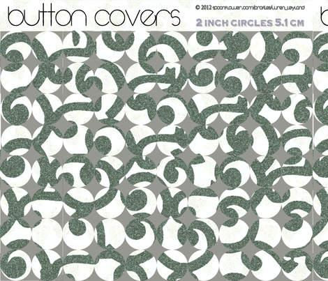 Button Covers Teal fabric by wren_leyland on Spoonflower - custom fabric