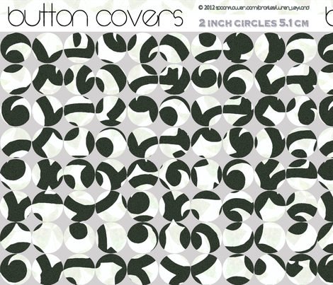 Button Covers in Black and White fabric by wren_leyland on Spoonflower - custom fabric
