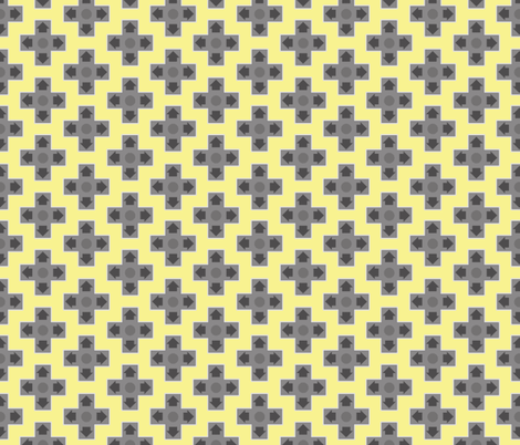 D-Pads in Yellow fabric by ilikemeat on Spoonflower - custom fabric