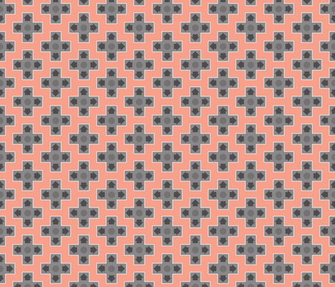 D-Pads in Coral fabric by ilikemeat on Spoonflower - custom fabric