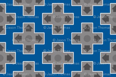 D-Pads in Blue