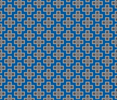 D-Pads in Blue fabric by ilikemeat on Spoonflower - custom fabric