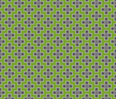 D-Pads in Dark Green fabric by ilikemeat on Spoonflower - custom fabric