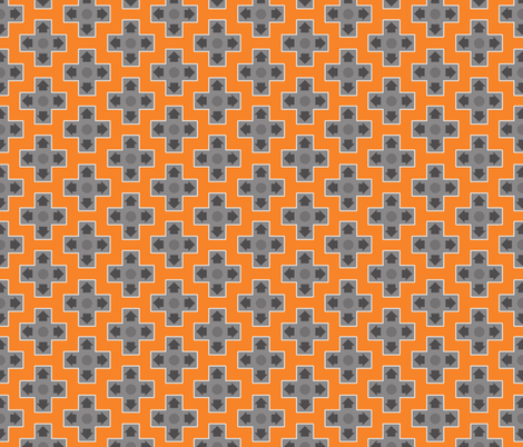 D-Pads in Orange fabric by ilikemeat on Spoonflower - custom fabric