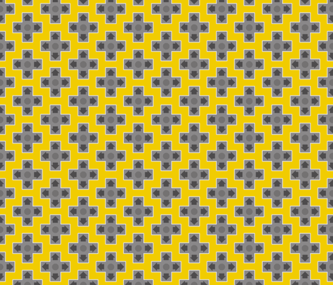 D-Pads in Bright Yellow fabric by ilikemeat on Spoonflower - custom fabric