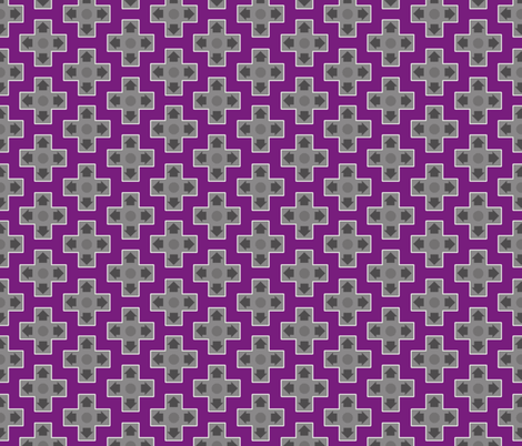 D-Pads in Dark Purple fabric by ilikemeat on Spoonflower - custom fabric