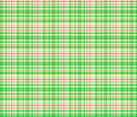 Green_Asian_Plaid_ fabric by almost_vintage on Spoonflower - custom fabric