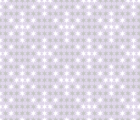 Space Age Snowflakes fabric by modgeek on Spoonflower - custom fabric