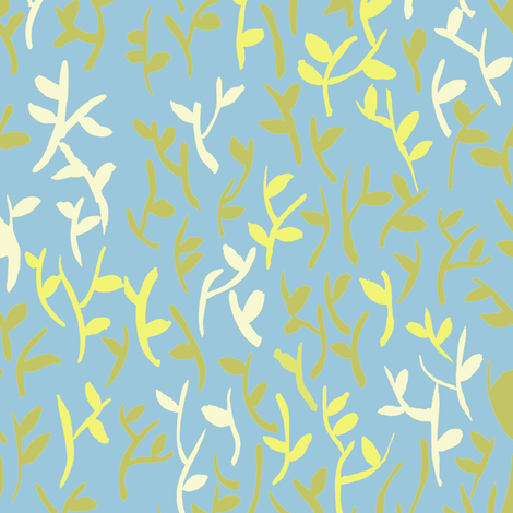 Leaves Blue fabric by susan_magdangal on Spoonflower - custom fabric