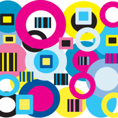 Circles & stripes pattern