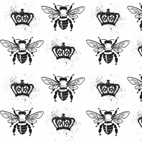Queen Bee fabric by follyandnonsense on Spoonflower - custom fabric