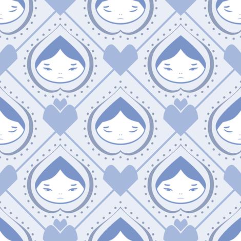 Onion Headed Girl fabric by taylourbeadling on Spoonflower - custom fabric