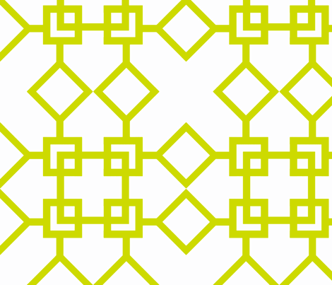 Climb the Trellis Lime fabric by honey&fitz on Spoonflower - custom fabric