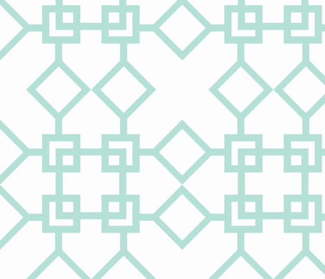 Climb the Trellis Minty fabric by honey&fitz on Spoonflower - custom fabric
