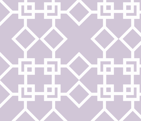 Climb the Trellis Wisteria Reverse fabric by honey&fitz on Spoonflower - custom fabric