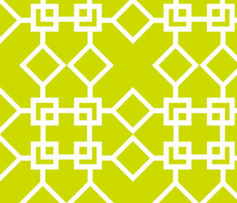 Climb the Trellis Lime Reverse fabric by honey&fitz on Spoonflower - custom fabric
