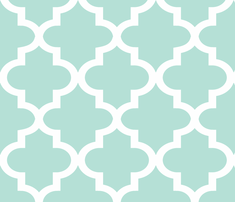 Quatrefoil Minty fabric by honey&fitz on Spoonflower - custom fabric
