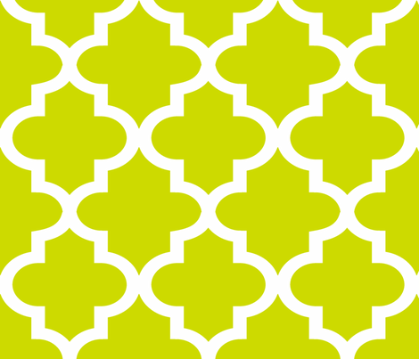 Quatrefoil Lime fabric by honey&fitz on Spoonflower - custom fabric