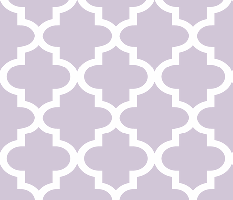 Quatrefoil Wisteria fabric by honey&fitz on Spoonflower - custom fabric