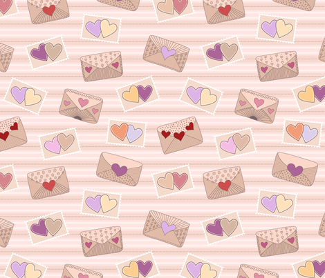 Love letters fabric by stewsha on Spoonflower - custom fabric