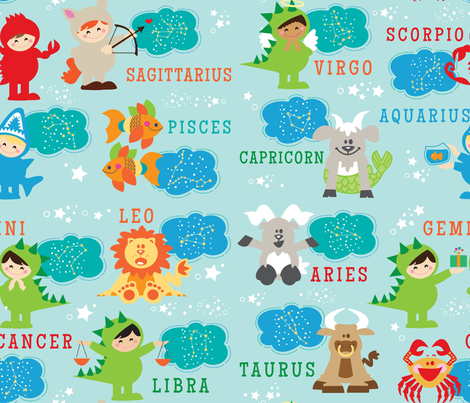 aloha little zodiac fabric by alohababy on Spoonflower - custom fabric