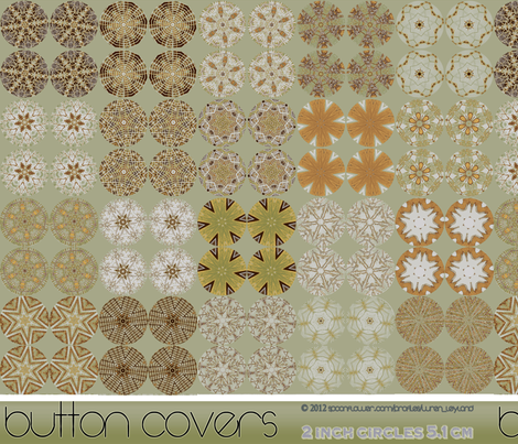 Button Covers - Woodland Sage